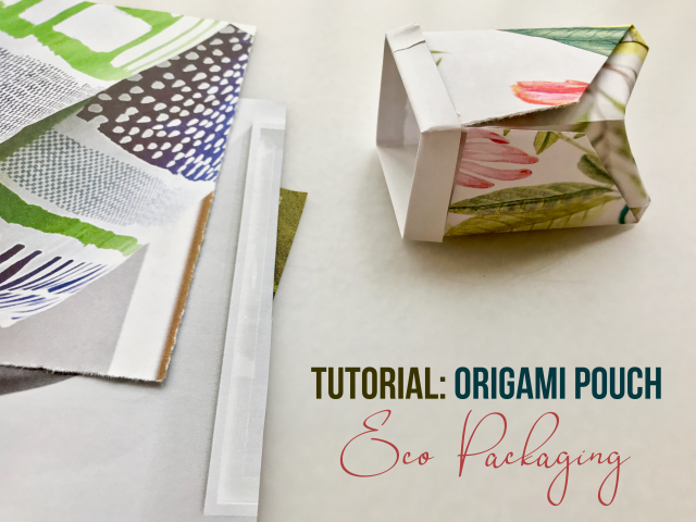 Tutorial – Origami Folded Fabric Pouch | Little By Little By ... | 480x640